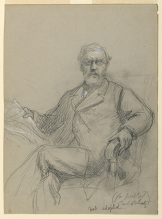 Drawing, Carl Schurz Seated Readin, 1899