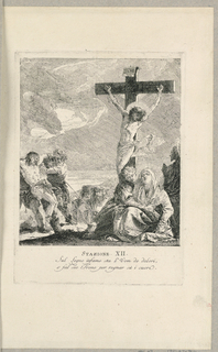 Print, Via Crucis - Station XII, The Crucifixion, ca. 1749