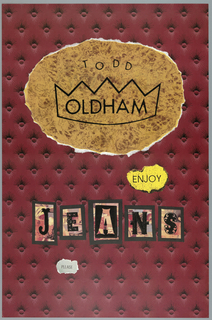 Poster, denim, jeans