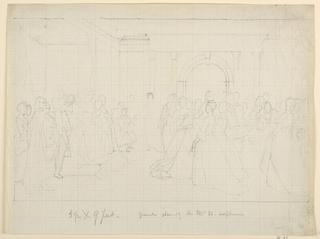 "Drawing, General Plan for ""Martha Washington Reception"", 1860"