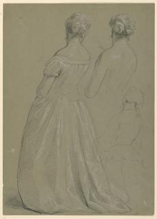 "Drawing, Study for ""Martha Washington Reception"", 1860"