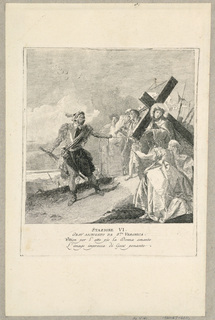 Print, Via Crucis - Station VI, Saint Veronica Wipes His Face with a Veil, ca. 1749