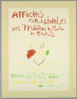 Poster, Affiche Originale des Maitres de L'Ecole