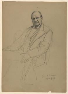 Drawing, Robert L. Stuart Seated, 1881