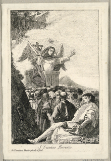 Print, St. Vincent Ferrer Preaching in the Countryside