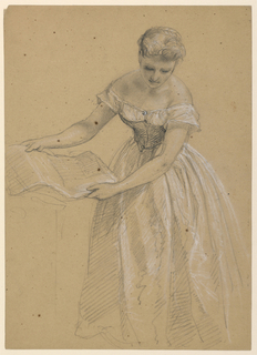 Drawing, Woman Standing, 1860