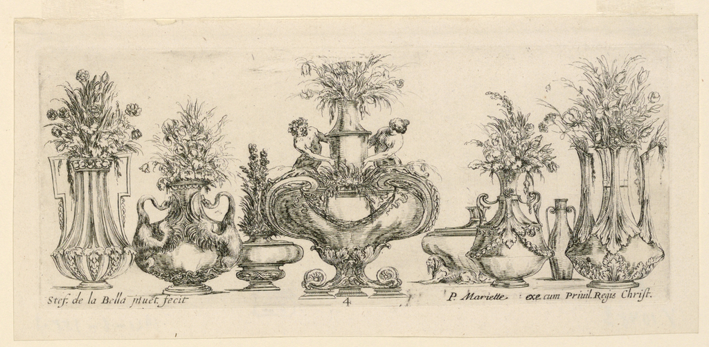 """Print, Eight Vases, from """"Raccol, 1646"""