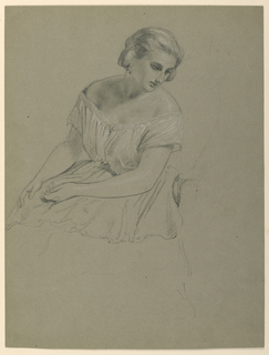 "Drawing, Study for ""Martha Washington Reception"", 1860"