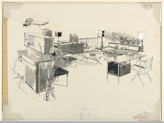 Drawing, Drawing for Advertising, living room set and sideboard