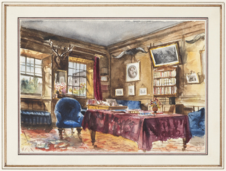 Drawing, Pynson Wilmot Bennitt's Room, Trinity College, Oxford
