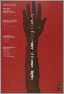 Poster, Universal Declaration of Human Rights 1948-1998