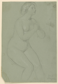 "Drawing, Study for ""A Magdalen"", F, 1852"