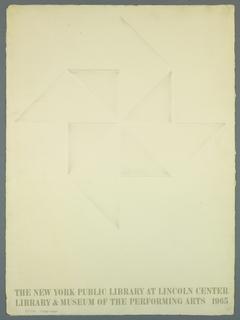 Poster, The New York Public Libra, 1965