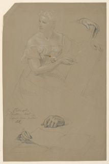 "Drawing, Study for ""Philosophy of Christian Art"", 1868"