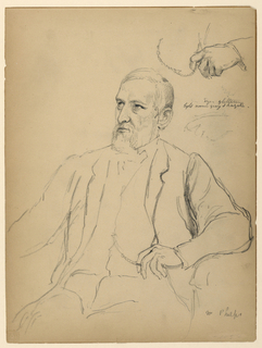 Drawing, John Jay Phelps Seated, S, 1863