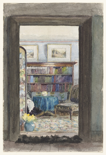 Drawing, The Library at Brabourne Vicarage