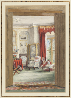 Drawing, A View of the Drawing Room, Cosham House