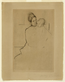 Print, Gardner (Cassatt) Held by His Mother