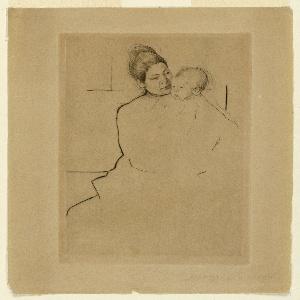 Print, Gardner (Cassatt) Held by His Mother