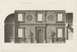 Bound Print, Section of the Long Side of Entrance Hall at Syon House, Middlesex, in Works in Architecture of Robert and James Adam, Vol. II, 2nd Edition