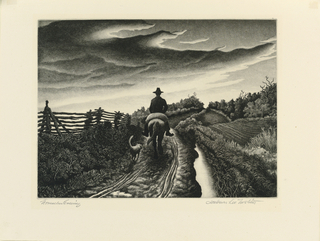 Print, November Evening