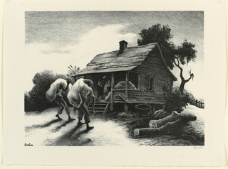 Print, Back from the Fields