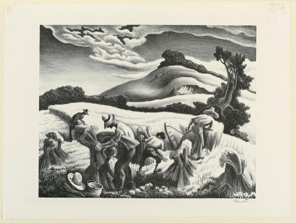Print, Cradling Wheat