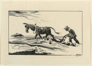 Print, Ploughing (Plowing It Under)