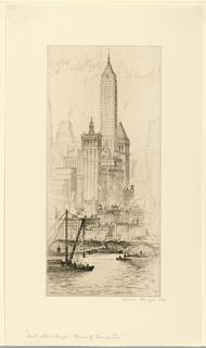 Print, Wall Street Group, Towers of Manhattan