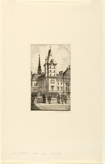 Print, Palais de Justice, Paris, 1929