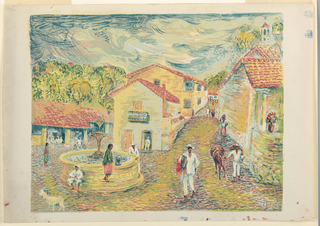 Print, View of Taxco, Mexico