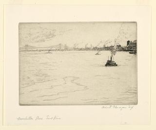 Print, Manhattan Scene, East River
