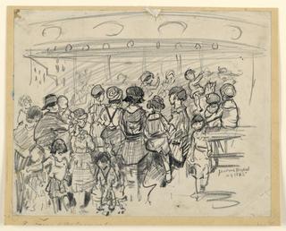 Drawing, Around the Carousel, ca. 1925