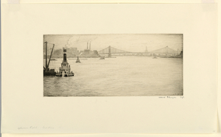 Print, Afternoon Sight, East River