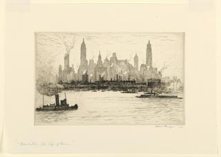 Print, Manhattan, The City of Towers