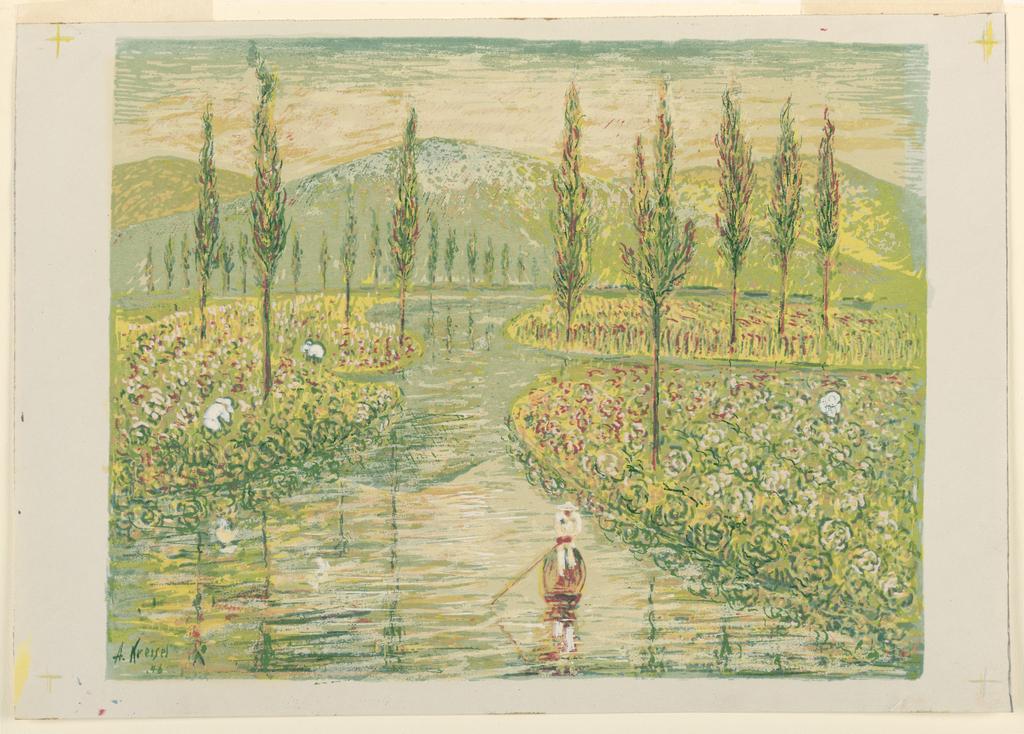 Print, Water Garden near Taxco, Mexico