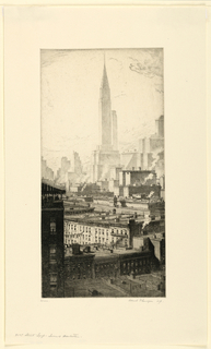 Print, 42nd Street Group, Towers of Manhattan