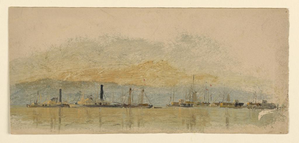 Drawing, Sketches. Ships, ca. 1860