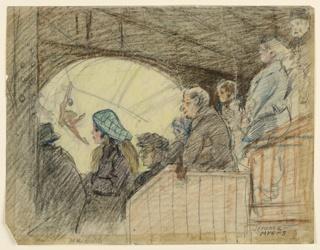 Drawing, Madison Square Garden Balcony, ca. 1925