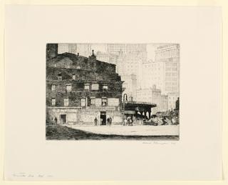 Print, Coenties Slip, New York, 1931