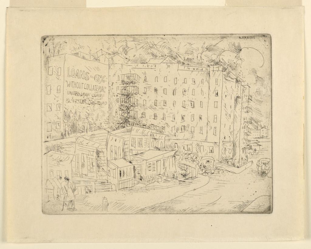 Print, Street Scene, New York