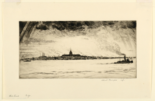 Print, Harbor Sunset, New York