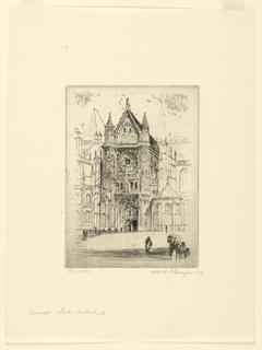 Print, Transept of Senlis Cathedral