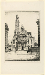 Print, Church of St. Etienne du Mont, Paris, 1929