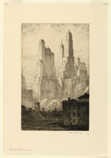Print, 57th Street Group, Towers of Manhattan