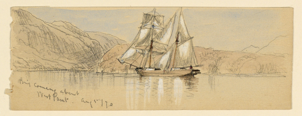 Drawing, Sketches. Ships, August 5, 1870