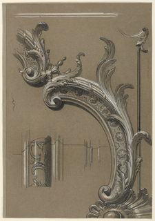 Drawing, Detail of Carved Moulding and Dado, ca. 1885