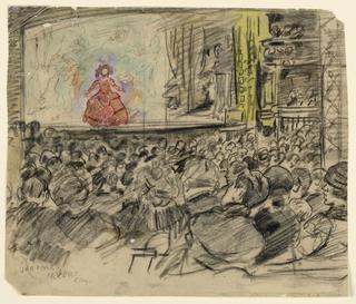 Drawing, Theatre interior, ca. 1925