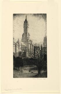 Print, Plaza Group, Towers of Manhattan