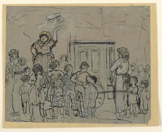 Drawing, Tambourine woman, ca. 1925